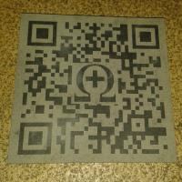Edle Schieferplatte 150mm x 150mm x 10mm incl. Gravur Grapppt-QR-Code invers/regulär