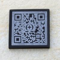 QR-Code regulär ,  Glas, 48x48mm, 4mm stark